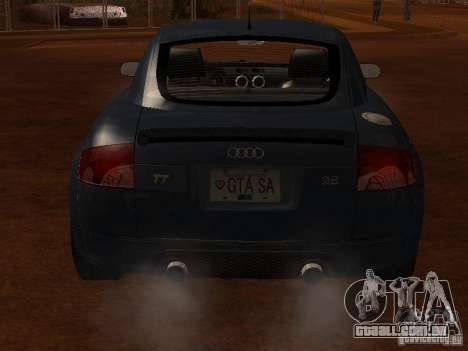 Audi TT 3.2 Quattro para GTA San Andreas vista traseira