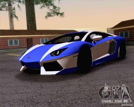 Lamborghini Aventador LP700-4 2011 para o motor de GTA San Andreas