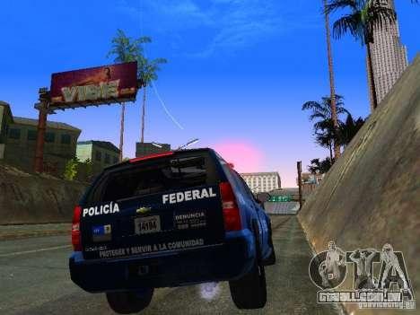 Chevrolet Tahoe 2008 Police Federal para GTA San Andreas vista direita
