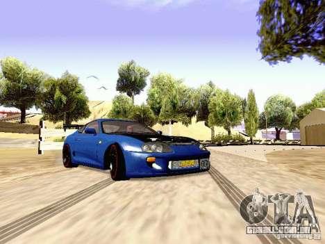 Toyota Supra Drift Edition para GTA San Andreas traseira esquerda vista