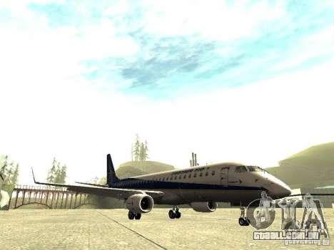 Embraer E-190 para GTA San Andreas esquerda vista