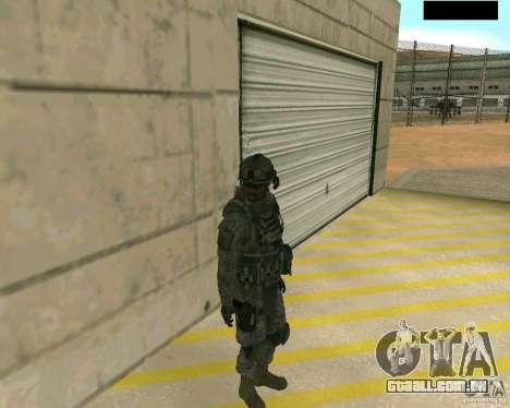 Pele do soldado de CODMW 2 para GTA San Andreas segunda tela