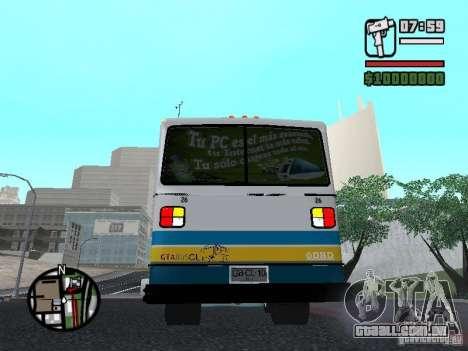 Cuatro Ases M.Benz LO608D para GTA San Andreas vista direita