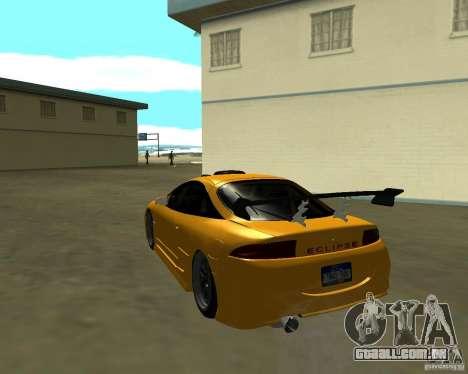Mitsubushi Eclipse GSX tuning para GTA San Andreas traseira esquerda vista