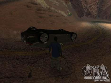 Não queimam carros tombados para GTA San Andreas por diante tela