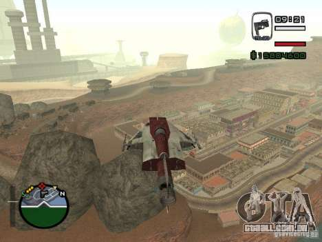 Lutador da cidade alienígena para GTA San Andreas esquerda vista