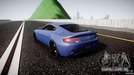 Aston Martin V8 Vantage V1.0 para GTA 4 traseira esquerda vista