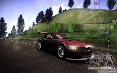 BMW Z4 E89 GT3 2010 para GTA San Andreas traseira esquerda vista