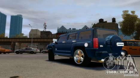 Hummer H3 2005 Gold Final para GTA 4 esquerda vista