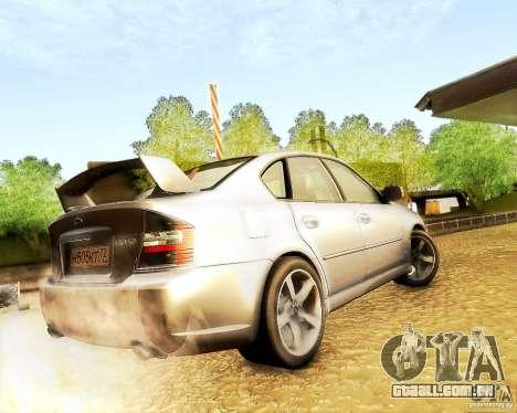Subaru Legacy 3.0 R tuning para GTA San Andreas traseira esquerda vista