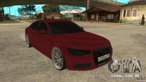 Audi A6 (C7) para GTA San Andreas vista traseira