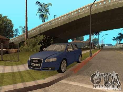 Audi S4 para GTA San Andreas vista superior