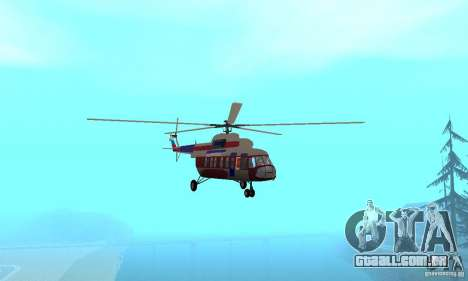 MI-17 civis (inglês) para GTA San Andreas vista interior