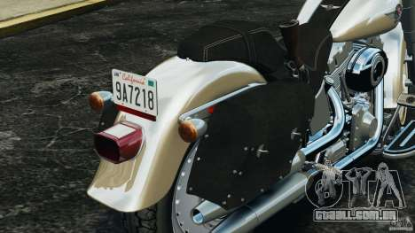 Harley Davidson Softail Fat Boy 2013 v1.0 para GTA 4 interior