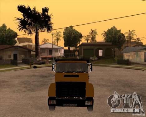 ZIL MMZ 4516 para GTA San Andreas vista traseira