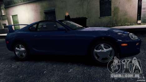 Toyota Supra RZ 1998 para GTA 4 esquerda vista