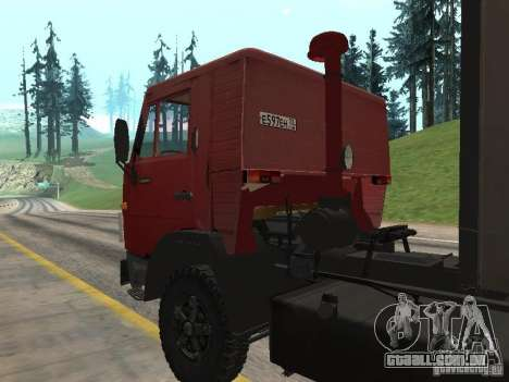 KAMAZ 5410 para GTA San Andreas vista traseira
