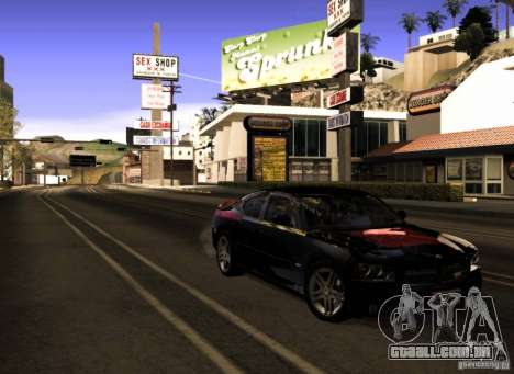 Dodge Charger R/T Daytona para GTA San Andreas vista inferior