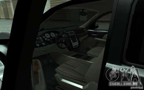 Chevrolet Suburban 2010 para GTA San Andreas vista traseira