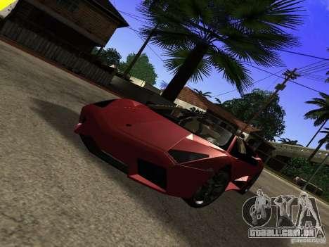 Lamborghini Reventon Roadster para GTA San Andreas vista direita