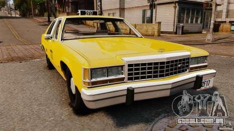 Ford LTD Crown Victoria 1987 L.C.C. Taxi para GTA 4