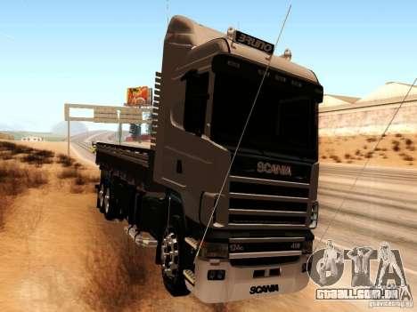 Scania 124G R400 para GTA San Andreas esquerda vista