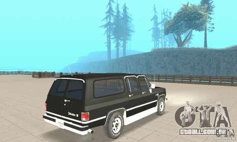 Chevrolet Suburban FBI 1986 para GTA San Andreas esquerda vista