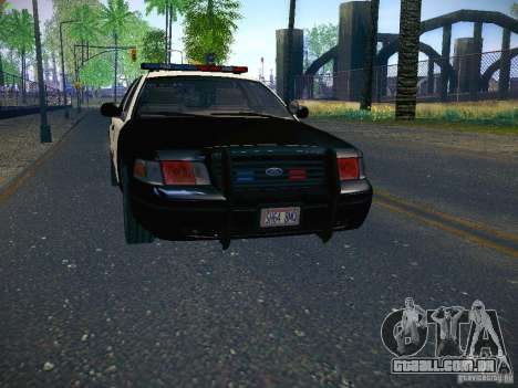 Ford Crown Victoria Police Intercopter para GTA San Andreas traseira esquerda vista