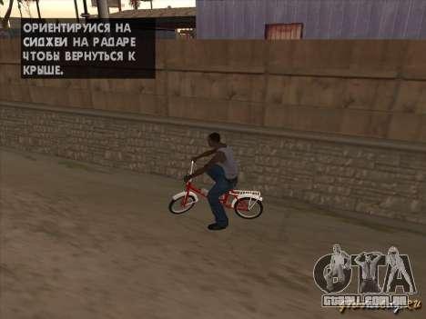 Tair GTA SA mota mota para GTA San Andreas vista interior