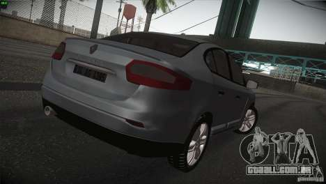 Renault Fluence para GTA San Andreas vista direita