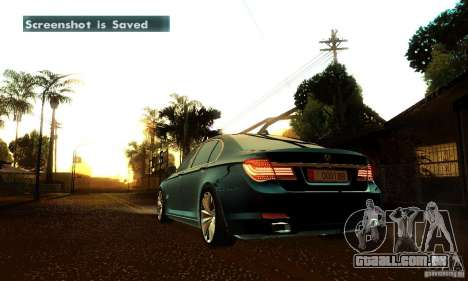 BMW 750Li para GTA San Andreas vista inferior