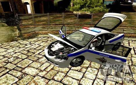 Acura RSX-S polícia para GTA San Andreas traseira esquerda vista