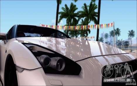 Nissan GTR 2011 Egoist (versão com sujeira) para GTA San Andreas vista interior