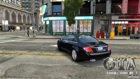 Mercedes-Benz CL65 AMG v1.5 para GTA 4 vista direita
