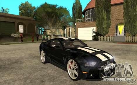 Ford Shelby GT500 para GTA San Andreas vista traseira