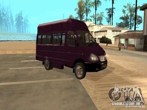 Táxi de gazela 32213 para GTA San Andreas traseira esquerda vista