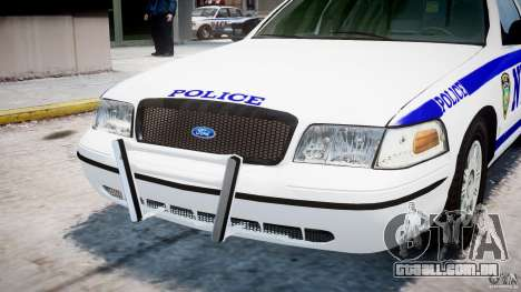 Ford Crown Victoria NYPD para GTA 4 vista superior