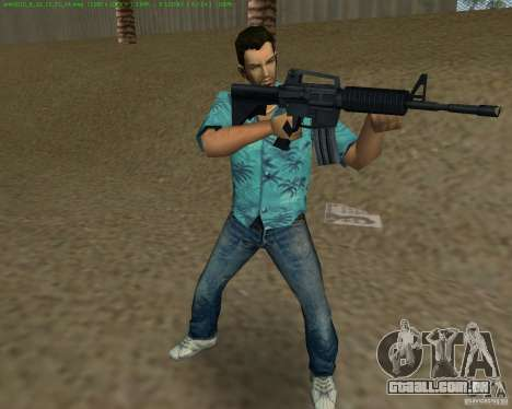 M4 de Counter Strike Source para GTA Vice City sexta tela