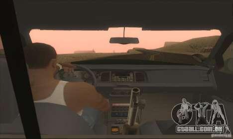 Ford Crown Victoria Indiana Police para GTA San Andreas traseira esquerda vista