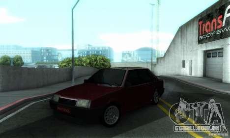 PROTOCOLO VAZ 21099 para GTA San Andreas vista superior