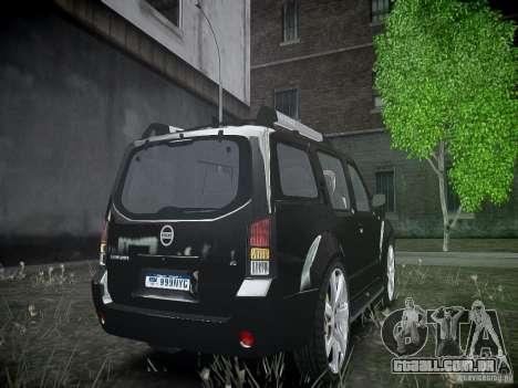 Nissan Pathfinder 2010 para GTA 4 vista de volta