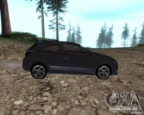 Vauxhall Astra VXR para GTA San Andreas esquerda vista