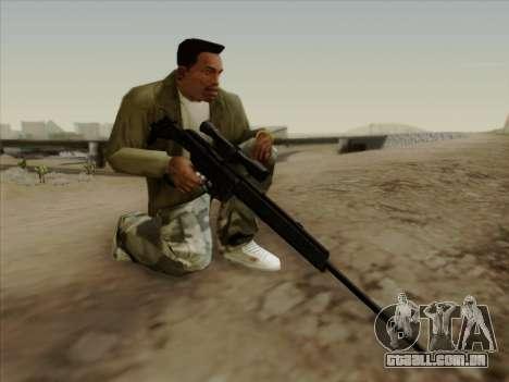HK PSG 1 para GTA San Andreas terceira tela