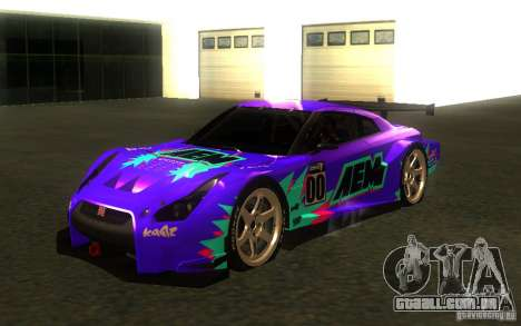 Nissan Skyline R35 GTR para GTA San Andreas traseira esquerda vista