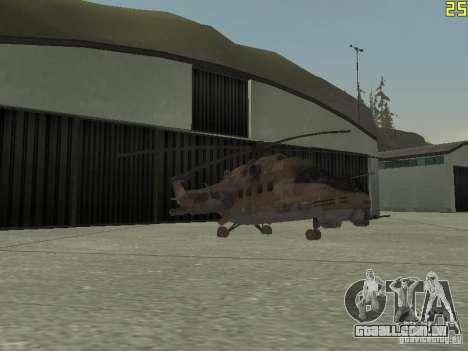 Mi-24p Desert Camo para GTA San Andreas vista superior