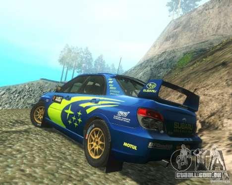 Subaru Impreza WRX STI DIRT 2 para GTA San Andreas traseira esquerda vista