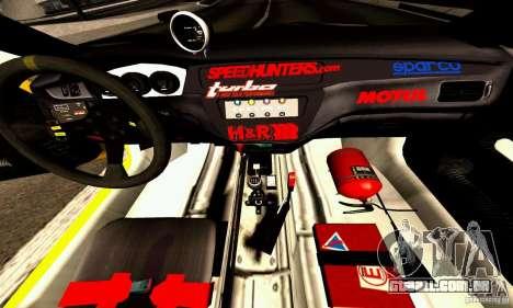 Mitsubishi Lancer Evolution VIII - ProSpeed para GTA San Andreas vista interior