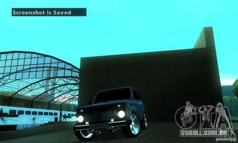 VAZ 21213 NIVA FBI para GTA San Andreas vista interior