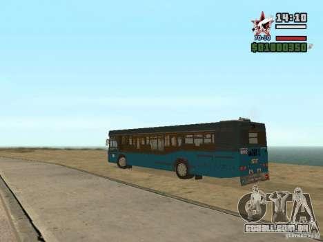 Maz-103S para GTA San Andreas vista traseira
