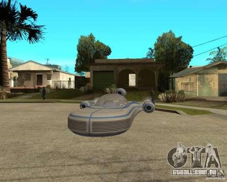 X34 Landspeeder para GTA San Andreas vista traseira